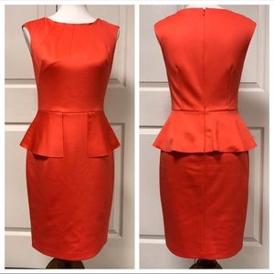 Nine West Coral Peplum Sleeveless Career Dress